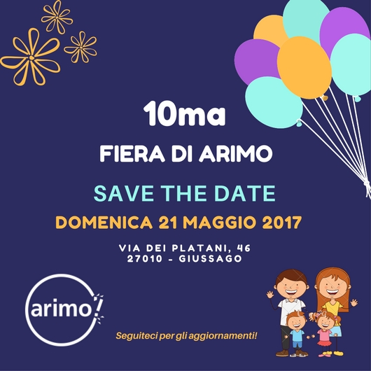 Save the date 2017 10ma fiera di Arimo